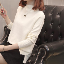 sweater Autumn of 2018 S M L XL Long sleeves Socket singleton  Regular other 95% and above Half high collar thickening commute routine Solid color Self cultivation Regular wool Keep warm and warm 25-29 years old Imongssan / yimengshang Thread asymmetry Other 100% Pure e-commerce (online only)