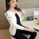 Wool knitwear Summer of 2018 S M L XL Long sleeves singleton  Cardigan other More than 95% have cash less than that is registered in the accounts routine commute Self cultivation V-neck routine Plants and flowers Korean version 25-29 years old Imongssan / yimengshang Jacquard embroidery Other 100%