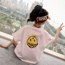 T-shirt White yellow AI shangniu 110cm 120cm 130cm 140cm 150cm 160cm female summer Short sleeve Crew neck Korean version There are models in the real shooting nothing cotton Solid color Cotton 100% XTX7673 Class B Summer 2020 Chinese Mainland Zhejiang Province Shaoxing