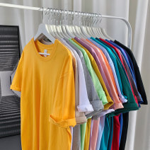 T-shirt Youth fashion Wild group routine Short sleeve Crew neck easy Other leisure summer SJCY2R12D1 Cotton 100% teenagers routine tide other Solid color Spring 2021 cotton Non iron treatment Domestic non famous brands Pure e-commerce (online sales only) More than 95% S M L XL 2XL 3XL