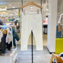 trousers moimoln neutral 90 for about 75cm, 100 for about 85CM, 110 for about 95cm, 120 for about 105cm, 130 for about 115cm Iy white purchasing agent, iy white (delivery within 48 hours) spring and autumn trousers Korean version No model Casual pants Leather belt middle-waisted other Other 100%