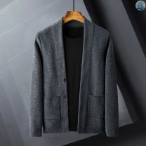 T-shirt / sweater Others Business gentleman Dark grey, black, khaki M,L,XL,2XL,3XL,4XL routine Cardigan V-neck Long sleeves winter Slim fit 2020 leisure time Exquisite Korean style youth routine Solid color Multiple pockets