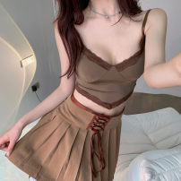 shirt Suspender skirt S M L Spring 2021 other 96% and above Short sleeve Original design Short style (40cm < length ≤ 50cm) other Socket other other 18-24 years old Straight cylinder Lovely beauty Other 100% Pure e-commerce (online only)