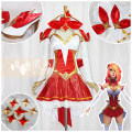 Cosplay women's wear suit Customized Over 6 years old Uniform + Flash yarn, kadanhuang + Flash yarn, thick satin + Flash yarn game Tailor made Free wind League of Heroes