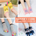 Socks / base socks / silk socks / leg socks female LAN Zixin Buy a box and get a pair of even size (suitable for size 34-40) 4 pairs Thin money Middle cylinder Four seasons Sweet Cartoon animation cotton Five toe socks LZXDMOI7 Summer 2017 Cotton 100% Pure e-commerce (online only)