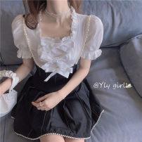 Fashion suit Summer 2020 S,M,L White shirt, Black Pearl trousers, picture color suit 18-25 years old 51% (inclusive) - 70% (inclusive) cotton