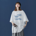 T-shirt M L XL 2XL 3XL 4XL 5XL Summer 2021 elbow sleeve Crew neck easy Regular routine commute cotton 96% and above 18-24 years old Korean version originality letter Teng Yiman TYMTXMM66 printing Cotton 100% Pure e-commerce (online only)