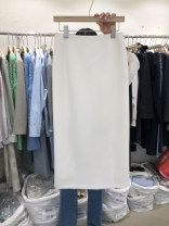 skirt Summer 2021 S,M,L,XL white Mid length dress Versatile High waist A-line skirt Solid color Type A 18-24 years old 31% (inclusive) - 50% (inclusive) cotton
