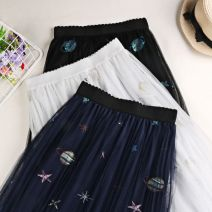 skirt Spring of 2019 Average size Swan white planet Black Planet Blue longuette commute High waist Pleated skirt other Type A 18-24 years old yz565722770790 More than 95% other The charm of benevolence polyester fiber 3D Korean version Polyethylene terephthalate (polyester) 100.0%