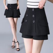 skirt Autumn of 2019 26 27 28 29 30 31 32 8027 black Short skirt Versatile Natural waist Suit skirt Solid color Type A 30-34 years old More than 95% knitting The charm of benevolence other bow Other 100.0% Same model in shopping mall (sold online and offline)