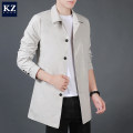 Jacket KZ-ZONE Youth fashion M L XL 2XL 3XL 4XL routine Self cultivation Other leisure autumn J69206 Polyester 99% viscose (viscose) 1% Long sleeves Wear out Lapel Exquisite Korean style teenagers Medium length Single breasted Straight hem washing Loose cuff Solid color Autumn 2020 Side seam pocket