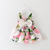 Dress Yellow, pink, bright pink, orange female Tagkita / she and others Five, seven, nine, eleven Cotton 100% summer Korean version other other 3 months