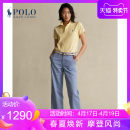 Casual pants 400 blue 0 2 4 6 8 00 Spring 2021 trousers Wide leg pants Natural waist WMPOPNTNDL20017 POLO RALPH LAUREN Cotton 100% Same model in shopping mall (sold online and offline)