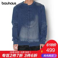 Sweater Fashion City Tough Jeansmith blue L T17F-212 Cotton 94.7% polyurethane elastic fiber (spandex) 5.3% Spring of 2018