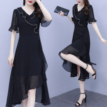 Dress Spring 2021 black L XL 2XL 3XL 4XL 5XL Mid length dress 30-34 years old Type A Jiaboer JBEBH/336C/5211 More than 95% other Other 100% Pure e-commerce (online only)