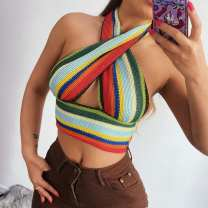 undergarment covering the chest and abdomen Summer 2021 stripe HY21080PF Epaulet S,M,L Color matching
