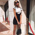 Dress Summer 2020 black S,M,L Short skirt singleton  Sleeveless street other High waist Solid color other other other straps 18-24 years old Type H KLIOU Strap, strap D1732343 91% (inclusive) - 95% (inclusive) other polyester fiber Europe and America