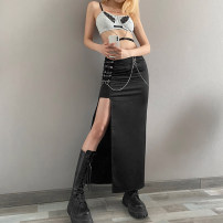 skirt Spring 2021 S,M,L black Short skirt street High waist other Solid color Type H 18-24 years old K21J00374 More than 95% other KLIOU polyester fiber chain Europe and America