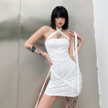 Dress Spring 2021 White, black S,M,L Short skirt singleton  Sleeveless street other High waist other Socket One pace skirt routine Others 18-24 years old Type X KLIOU Pleating K20D11079 91% (inclusive) - 95% (inclusive) other polyester fiber Europe and America