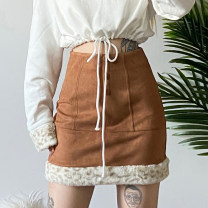 skirt Autumn 2020 S,M,L Black, deep Khaki Short skirt street High waist A-line skirt other Type A 18-24 years old 91% (inclusive) - 95% (inclusive) other KLIOU polyester fiber Europe and America