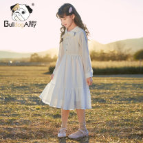 Dress The clouds are white female Greedy dog 110cm 120cm 130cm 140cm 150cm 160cm Polyester fiber 38.9% viscose fiber (viscose fiber) 32.2% polyamide fiber (polyamide fiber) 27.8% polyurethane elastic fiber (spandex) 1.1% spring and autumn leisure time Long sleeves Solid color other A-line skirt