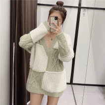 Wool knitwear Winter 2020 S,M,L Color matching Long sleeves singleton  Socket acrylic fibres 51% (inclusive) - 70% (inclusive) Regular V-neck Color matching