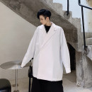 shirt Fashion City Others M,L,XL White, black routine Dress collar (wing collar) Long sleeves easy Other leisure spring youth 2019