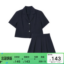 Fashion suit Summer 2021 S, M Navy (short sleeve), apricot check, Navy (long sleeve) Other / other N8801 96% and above polyester fiber