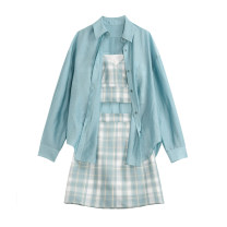 Fashion suit Summer 2021 S,M,L Green, shirt, suspender, skirt Other / other N60469-1 96% and above polyester fiber