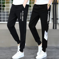 Casual pants Wai San Youth fashion M L XL 2XL 3XL routine trousers Other leisure Self cultivation Micro bomb WS-TGJ-888-4 spring teenagers tide 2020 middle-waisted Little feet Polyamide fiber (nylon) 48.1% viscose fiber (viscose fiber) 45.2% polyurethane elastic fiber (spandex) 6.7% Sports pants