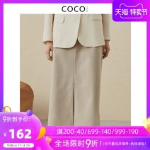 skirt Spring 2021 S M L XL Maca Mid length dress commute Natural waist Suit skirt Solid color Type H 30-34 years old 51% (inclusive) - 70% (inclusive) COCOCOZI polyester fiber lady Pure e-commerce (online only)