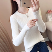 sweater Autumn of 2019 S M L XL White apricot Khaki red black Long sleeves Socket singleton  Regular other 95% and above Crew neck Regular routine Solid color Self cultivation Regular wool Keep warm and warm Su Su SS19QD26GD thread Other 100% Pure e-commerce (online only)