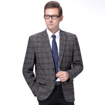 man 's suit As shown in the picture Oana  Business gentleman routine 165/46,170/48,175/50,180/52,185/54,190/56 185-999 Wool 100% Self cultivation Multi grain single breasted Other leisure No slits middle age Long sleeves autumn routine Business Casual Round hem 2019 No iron treatment wool