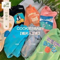 Sweater / sweater CookiesBaby Black, blue, green spot, pink spot, orange spot, apricot spot, gray spot female 80, 90, 100, 110, 120, 130 spring nothing Korean version Socket routine There are models in the real shooting cotton Cartoon animation Cotton 80% polyethylene terephthalate (polyester) 20%