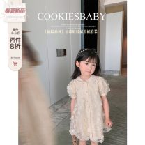 Dress female CookiesBaby 80, 90, 100, 110, 120, 130 Polyester 100% summer princess Short sleeve Plants and flowers polyester Princess Dress other 12 months, 18 months, 2 years old, 3 years old, 4 years old, 5 years old