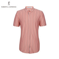 shirt Business gentleman Roberta di Camerino / nobeda 46 48 50 52 54 56 Light red routine other Short sleeve standard Other leisure summer middle age Business Casual 2020 other Color woven fabric Summer 2020 other cotton other Same model in shopping mall (sold online and offline)