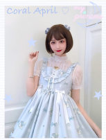 Dress Summer of 2019 All in stock S,M,L Middle-skirt Sleeveless Sweet other High waist other Princess Dress other camisole solar system