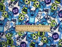 Fabric / fabric / handmade DIY fabric cotton Monster University Loose shear piece Cartoon animation printing and dyeing Europe and America 61% (inclusive) - 70% (inclusive)