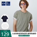 T-shirt Youth fashion White green dark blue routine M L XL 2XL 3XL 4XL KILO METERS Short sleeve Crew neck easy daily M2D2006502 Cotton 100% tide Summer 2020