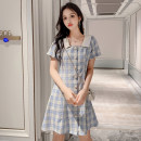 shirt Blue and green S M L XL Summer 2020 other 96% and above Short sleeve commute Regular stand collar Socket routine stripe 25-29 years old Self cultivation Congrenjiu / since then Korean version h2mhr Button Other 100% Pure e-commerce (online only)