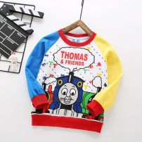 T-shirt Color Thomas, blue Thomas, Thomas, three cars, such as picture, Color-1, Color-2, Color-3, color-4, color-5, color-6# Other / other 100, 110, 120, 130, 90, 140, 150 male spring and autumn Long sleeves Crew neck leisure time No model nothing cotton Cartoon animation 20190223yf Sweat absorption