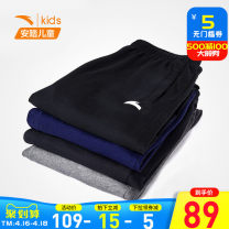 trousers Anta male 130cm 140cm 150cm 160cm 165cm 170cm spring and autumn trousers motion Official pictures Sports pants Tether middle-waisted cotton Don't open the crotch Cotton 100% Class A Spring 2021 Chinese Mainland Fujian Province Quanzhou City