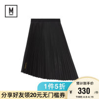 skirt Autumn of 2019 26 27 28 BKX / Black PPX / Purple Short skirt Versatile Natural waist Irregular 18-24 years old More than 95% MUSIUM DIV polyester fiber Polyester 100% Same model in shopping mall (sold online and offline)