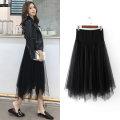 skirt Medium length Versatile M,L,XL,XXL,XXXL Four seasons Beauty of rhyme