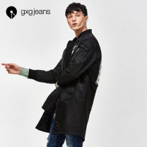 Windbreaker black gxg.jeans Youth fashion 165/S,170/M,175/L,180/XL,185/XXL,190/XXXL Front and middle zip placket Medium length standard Other leisure winter youth stand collar tide Polyamide fiber (nylon) 100% other printing