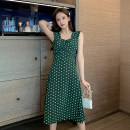 shirt green S M L XL Summer 2020 other 96% and above Short sleeve commute Medium length V-neck Socket routine Solid color 18-24 years old Straight cylinder Hanshangfiman / hanshangtiman lady Other 100% Pure e-commerce (online only)