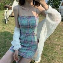Dress Summer 2020 Green suspender skirt, blue and purple suspender skirt XXS,XS,S,M