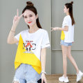 Women's large Summer 2021 M L XL T-shirt singleton  commute Straight cylinder Socket Short sleeve Korean version Crew neck routine routine First reading 18-24 years old 91% (inclusive) - 95% (inclusive) Cotton 93.4% polyurethane elastic fiber (spandex) 6.6% Pure e-commerce (online only)