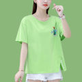 Women's large Summer 2021 Fruit green orange purple white M L XL T-shirt singleton  commute Straight cylinder Short sleeve Korean version Crew neck routine routine 8A036TX45 First reading 18-24 years old 91% (inclusive) - 95% (inclusive) Cotton 93.8% polyurethane elastic fiber (spandex) 6.2%