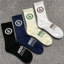 Socks / base socks / silk socks / leg socks lovers Other / other 1 pair thickening Middle cylinder Four seasons motion letter Colored cotton motion